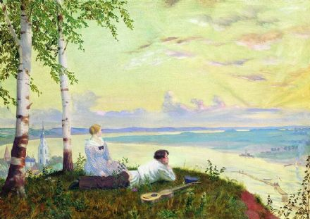 Kustodiev, Boris: On the Volga. Fine Art Print/Poster. Sizes: A4/A3/A2/A1 (002191)